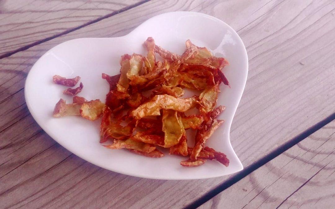 Recette : chips d'épluchures de pommes de terre